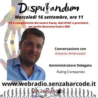Antonio Ambrosetti AD Ruling Companies
