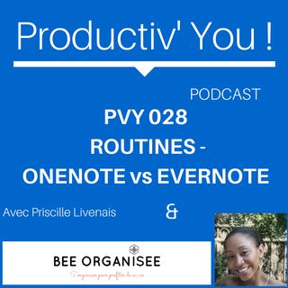 PVY EP028  SABINE - ROUTINES - ONENOTE - EVERNOTE