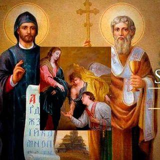 San Cirilo y San Metodio y San Valentín