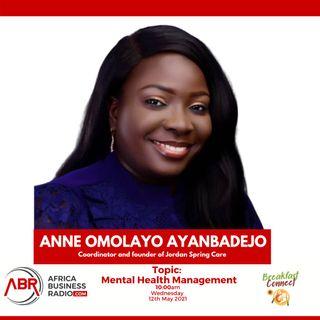 Mental Health Management - Anne Omolayo Ayanbadejo