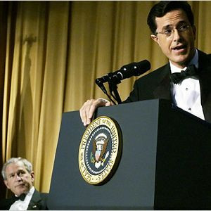 BONUS! Repost from May 8th, 2006 - He may be a failure, but he's our failure (Colbert Roasts Bush)