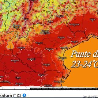 Previsioni meteo 17-19/04. Sole e temperature in aumento