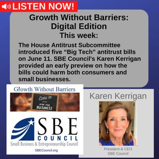 """Growth Without Barriers - DIGITAL EDITION: How House """"Big Tech"""" Antitrust Bills could harm consumers and small businesses."""