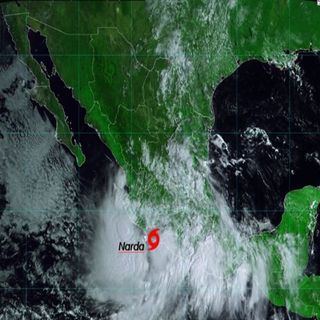 La tormenta tropical Narda tocó tierra en Michoacán provoca lluvias intensas a torrenciales