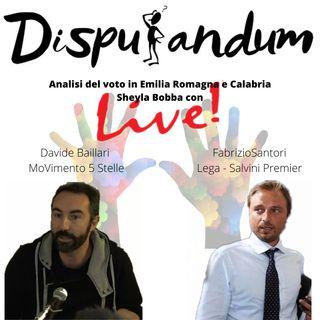 Analisi del voto in Emilia Romagna e Calabria (Fabrizio Santori)