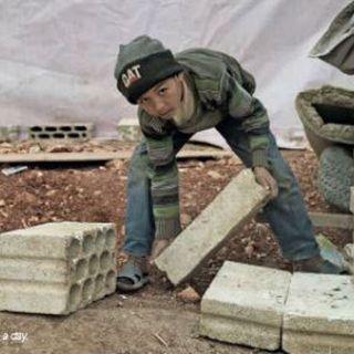 Niños trabajadores por la guerra siria