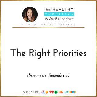 S02 E022: The Right Priorities