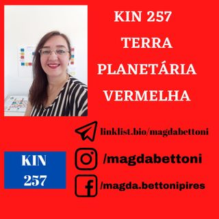 KIN 257  TERRA PLANETÁRIA VERMELHA - 20ª Onda Encantada do Tzolkin
