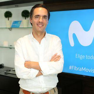 Alfonso Gómez,Presidente CEO de Telefónica  presentó #FibraMovistar