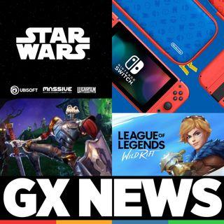 GX News 17 - Star Wars de Ubisoft, League of Legends: Wild Rift, Nintendo Switch Edición Mario y Medievil