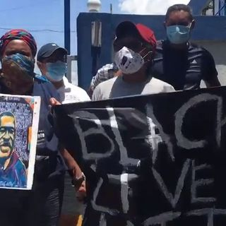 Dominicano-haitianos protestaban por George Floyd y los arrestaron