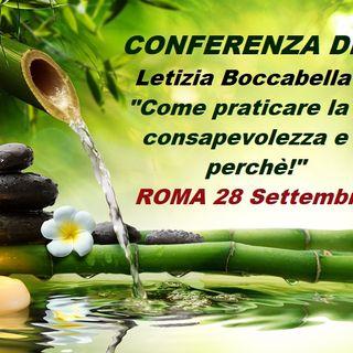 """Letizia Boccabella - Titolo: """"Come praticare la consapevolezza e perchè!"""" Alla regia: Annalisa Pintus"""