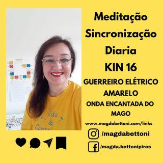 MEDITAÇÃO DE SINCRONIZAÇÃO - KIN 16- Guerreiro Elétrico Amarelo