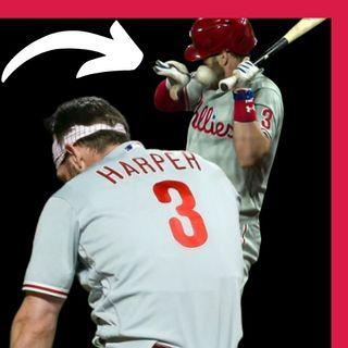 MLB BRYCE HARPER fue GOLPEADO por una BOLA a 97MPH en la cara