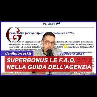 SUPERBONUS 110%: le FAQ nella guida 2021 dell'Agenzia delle Entrate