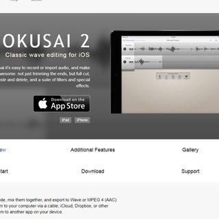 Attrezzi: Hokusai Audio Editor per iOS