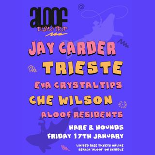 Aloof Disco Trip promo mix (Disco House vibes to celebrate the return of Aloof to Hare & Hounds)