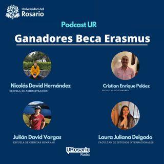 #OrgulloRosarista con los ganadores Beca Erasmus