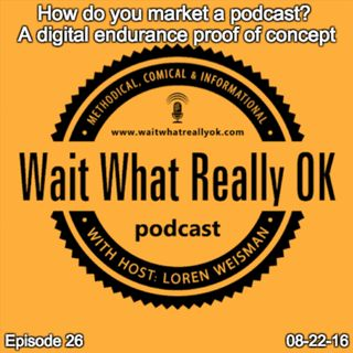 How do you market a podcast? A digital endurance proof of concept.