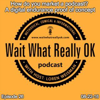 How do you market a podcast? A digital endurance proof of concept.