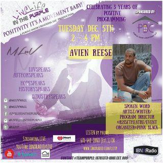 LLITP featuring -Guest-Avian Lael Reese, Spoken Word Artist/Writer/Program Director @R2iseTheatre/Event Organizer @Punk Black