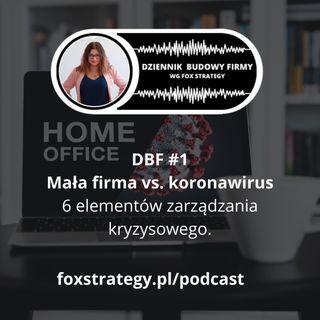 DBF #1: Mała firma vs. koronawirus. 6 elementów zarządzania kryzysowego. [BIZNES]