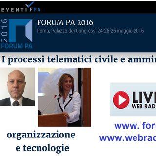 I processi telematici civile e amministrativo: organizzazione e tecnologie