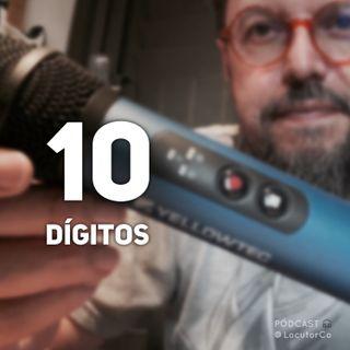 Los 10 dígitos y el micrófono podcaster alemán