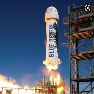 "Can We Talk About Jeff Bezos D🚀CK Shaped Rocket Ship?"""