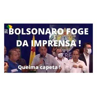 Bolsonaro foge de forma vergonhosa da imprensa