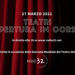 Teatri: Apertura in corso. puntata del 27 marzo 2021 intervento di Katiuscia Torquati