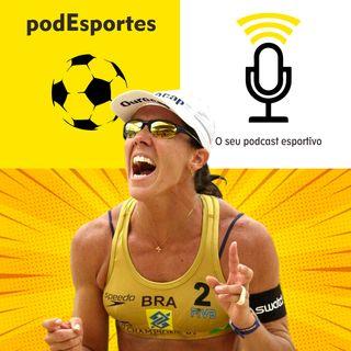 Sandra Pires do vôlei de praia no podEsportes