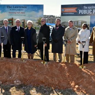 EP: 219 Lawrenceville Breaks Ground For The New Parking Deck