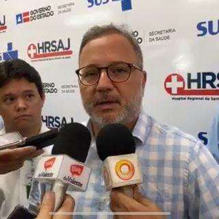 Primeira morte por Covi-19 na Bahia secretário Estadual da Saúde, Fábio Villas-Boas