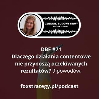 DBF #71: 9 najczęstszych błędów w Content Marketingu [MARKETING]