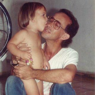 Travesuras de radio: Jaime Almirall-Suárez con su hija Helena (Enero de 1993, Radio Progreso)