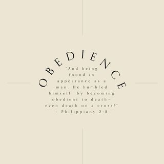01 - Obedience (Philippians 2:8) - Weekly Devotional with Nanda Green