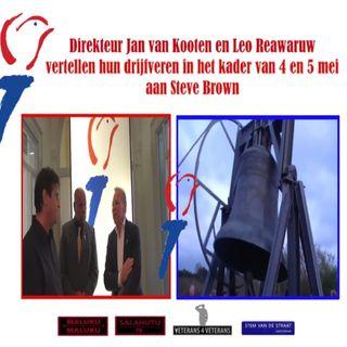 Steve Brown in gesprek met Leo Reawaruw  Maluku4Maluku  en Jan van Kooten directeur Nationaal Comité 4/5 mei.
