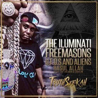 The Illuminati, Freemasons, U.F.O.s and Aliens | Rasul Allah of The Lost Children of Babylon | LCOB