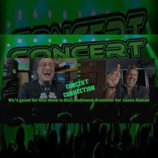 TCC October 14, 2020 Ric interviews Rich Redmond Drummer for Jason Aldean
