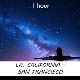 Los Angeles - San Francisco | 1 hour AIRPLANE Sound Podcast | White Noise | ASMR sounds for deep Sleep | Relax | Meditation | Colicky