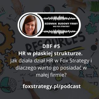 DBF #5: HR w płaskiej strukturze. Jak działa i dlaczego warto go posiadać w małej firmie? [BIZNES]