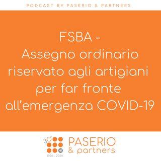 FSBA - Assegno ordinario riservato agli artigiani per far fronte all'emergenza COVID-19