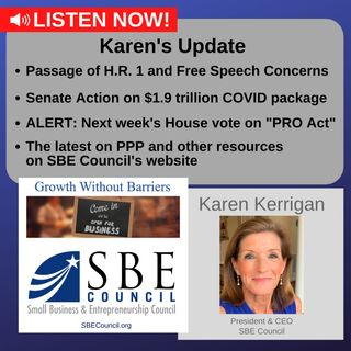 House passage of H.R.1 and free speech concerns; the $1.9 trillion COVID package; the PRO Act; PPP updates.