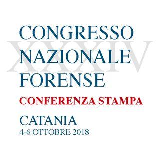 XXXIV Congresso Nazionale Forense - Mercoledì 3 ottobre 2018 - Conferenza stampa
