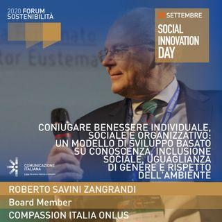 Roberto Savini Zangrandi | Compassion Italia Onlus | Coniugare Benessere Individuale, Sociale e Organizzativo | Forum Sostenibilità 2020