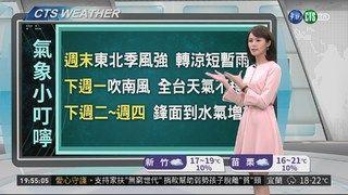20:31 週末東北季風增強 天氣轉涼有雨 ( 2019-02-15 )