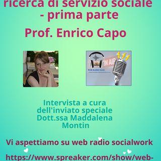 Enrico Capo. Assistenti sociali e ricerca di servizio sociale prima parte
