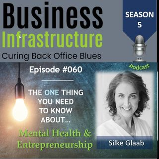Episode 60: The One Thing You Need to Know About Mental Health & Entrepreneurship   Silke Glaab