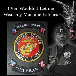 A 1%er Threatened Me Over My 3 Piece Marine Corps Patch Setup